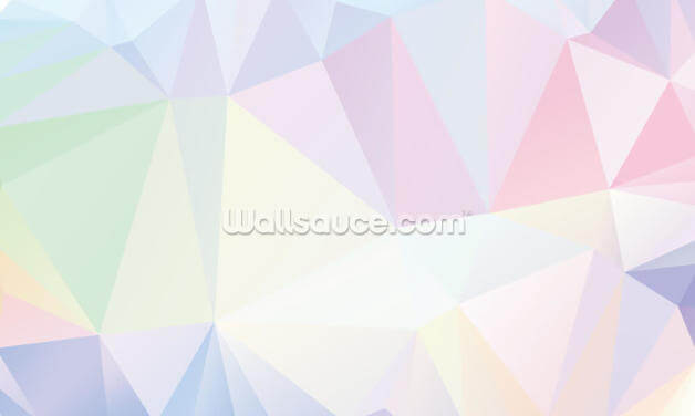 Polygon Pastel Wallpaper Wall Murals