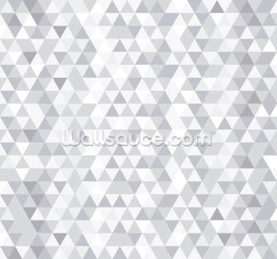 Grey and White Triangles Wallpaper Wall Murals