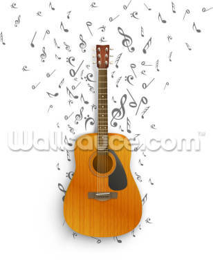 Notes off the Guitar Wallpaper Wall Murals