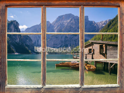 Clear Lake Waters Window Wallpaper Wall Murals
