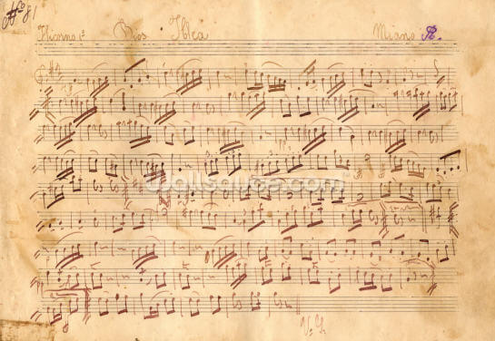 Antique Music Sheet Wallpaper Wall Murals