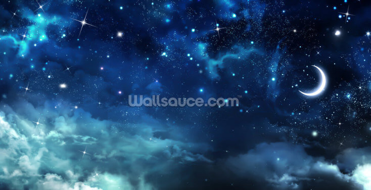 Beautiful Background Nightly Sky Wallpaper Wall Murals