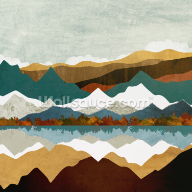 Mountain Reflection Wallpaper Wall Murals
