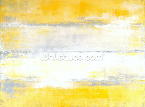 Grey and Yellow Painting Wallpaper Wall Murals