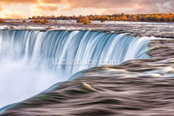 The Sun Rises Over Niagara Falls Wallpaper Wall Murals