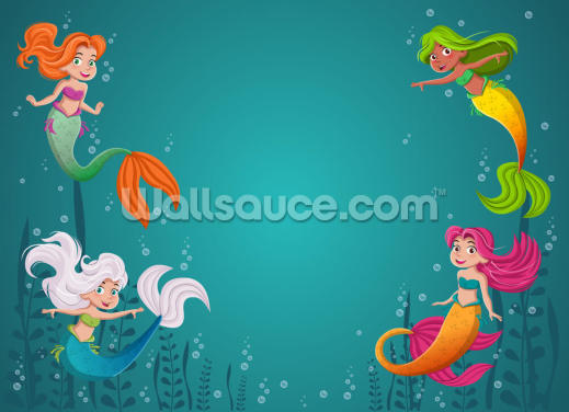 Mermaid Children Wallpaper Wall Murals