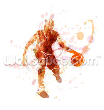 Silhouette of Basketball Player Wallpaper Wall Murals