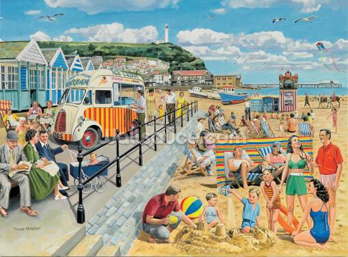 Seaside Nostalgia Wallpaper Wall Murals