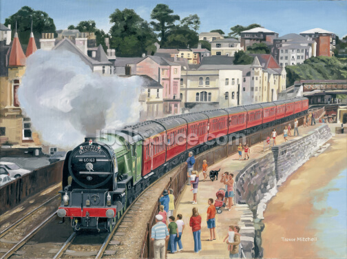 Tornado On The Torbay Express Wallpaper Wall Murals