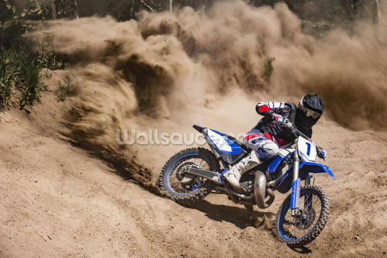 Dirt Bike Dust Wallpaper Mural Wallpaper Wall Murals