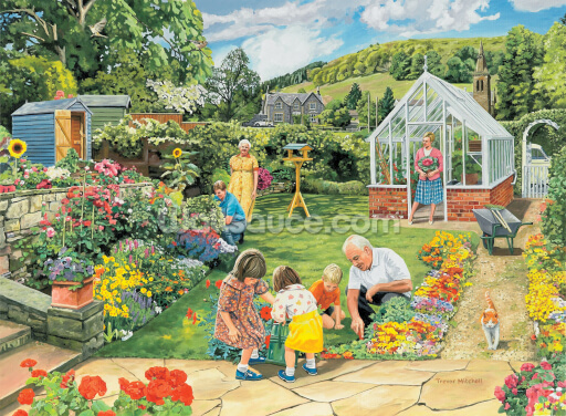 Gardening with Grandad Wallpaper Wall Murals