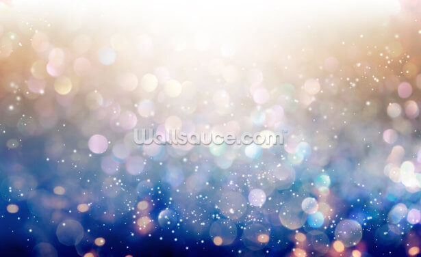 Blue and Pink Chunky Glitter Wallpaper Wall Murals