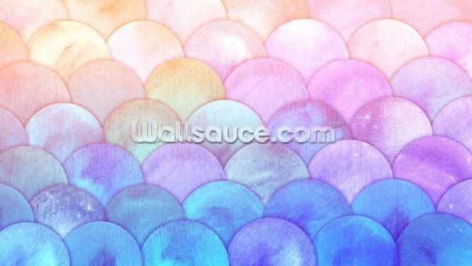 Magic Mermaid Scales Wallpaper Wall Murals