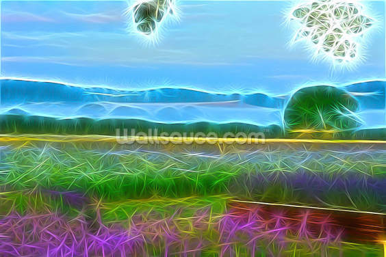 Light Lavender Fields Wallpaper Wall Murals