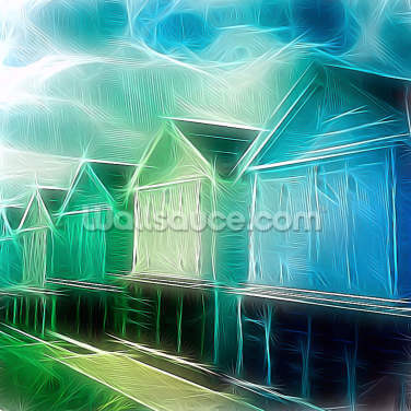 Light Left Shacks Wallpaper Wall Murals