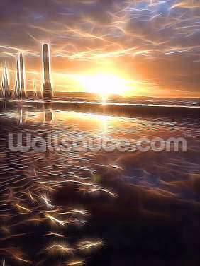 Light Low Tide Wallpaper Wall Murals
