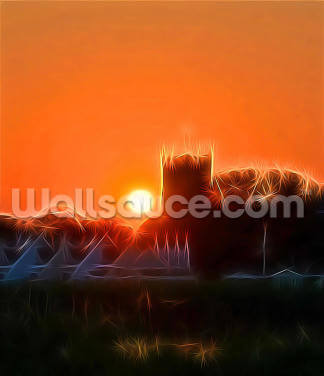 Light Priory Sunset Wallpaper Wall Murals