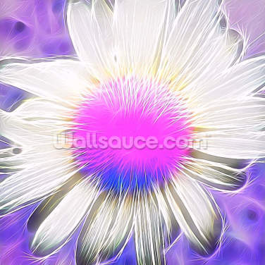 Light Punk Daisy Wallpaper Wall Murals