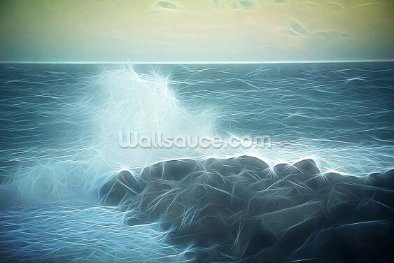 Light Storm Waves Wallpaper Wall Murals