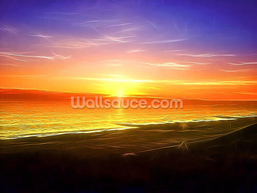 Light Sunset Wallpaper Wall Murals