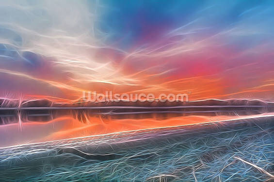 Light Winter Sundown Wallpaper Wall Murals