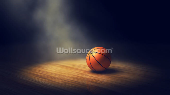 Basketball Spotlight Wallpaper Wall Murals