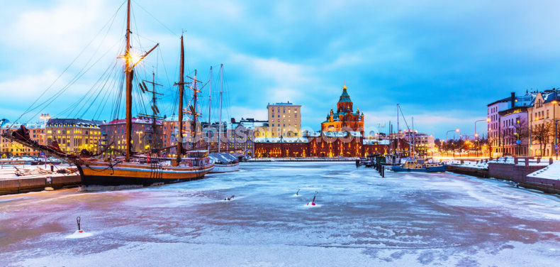 Helsinki Winter Wallpaper Wall Murals