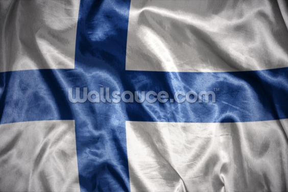 Finland Flag Wallpaper Wall Murals