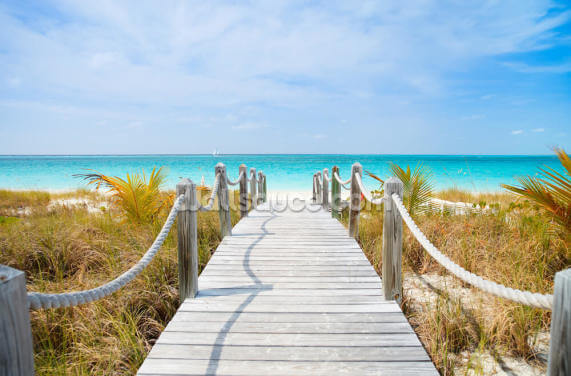 Caribbean Beach Boardwalk Wallpaper Wall Murals
