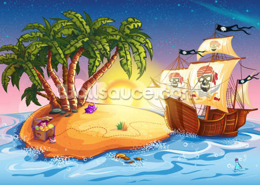 Treasure Island Sunset Wallpaper Wall Murals