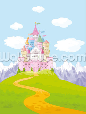 Fairytale Castle Landscape Wallpaper Wall Murals