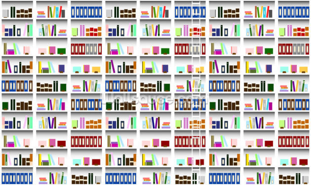 Bookcase - Digital Wallpaper Wall Murals