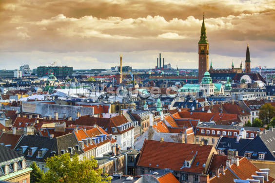 Copenhagen Skyline Wallpaper Wall Murals