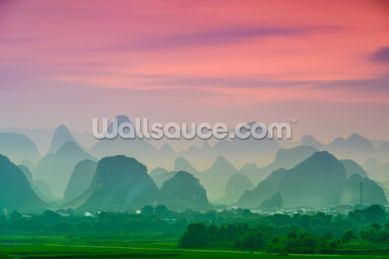 Karst Mountains of Guilin Wallpaper Wall Murals
