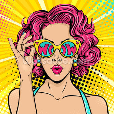 Wow Pop Art Wallpaper Wall Murals