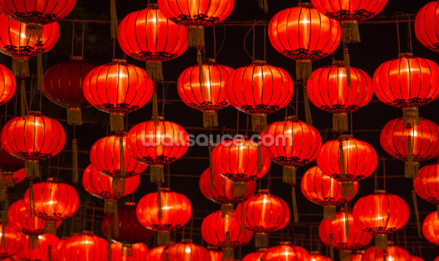 Chinese New Year Lanterns Wallpaper Wall Murals