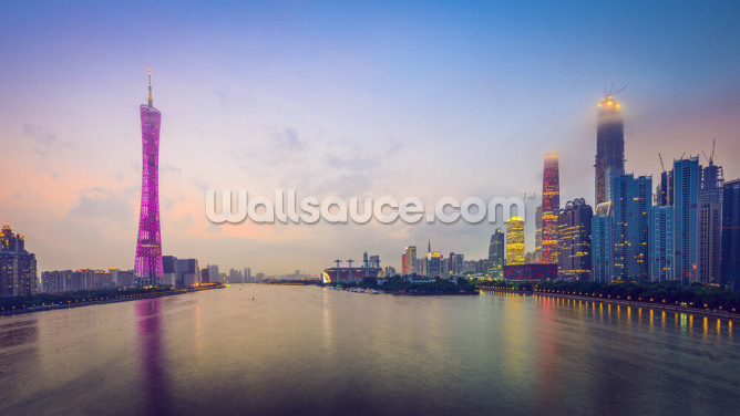 Guangzhou Skyline Wallpaper Wall Murals