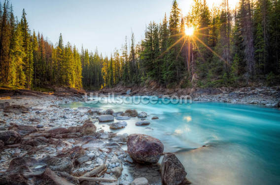 Natural Bridge Canadian Rockies Wallpaper Wall Murals