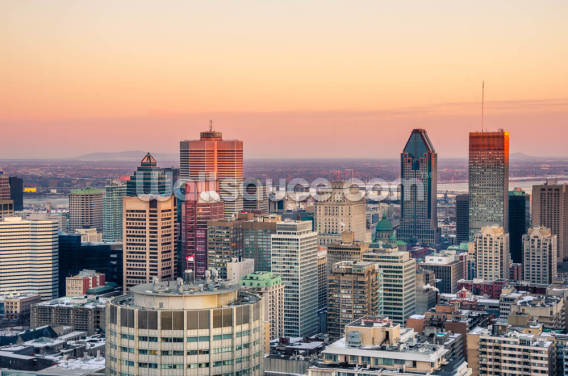 Montreal Winter Sunset Wallpaper Wall Murals