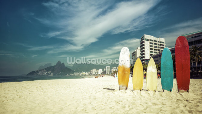 Ipanema Surfboards Wallpaper Wall Murals