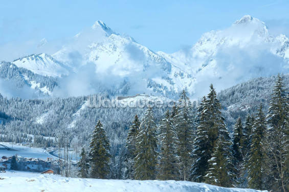 Tirol Winter Mountain Landscape Wallpaper Wall Murals