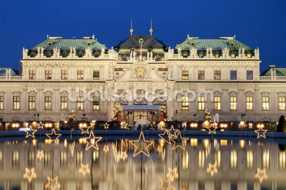 Christmas Stars In Vienna Wallpaper Wall Murals