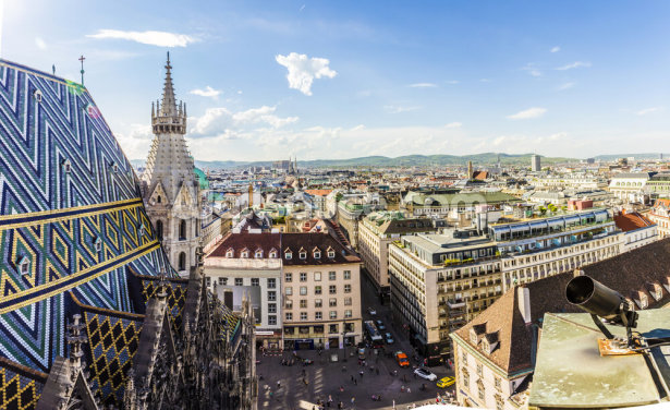 Panoramic View of Vienna Wallpaper Wall Murals