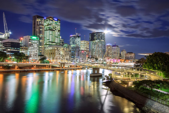 Brisbane at Night Wallpaper Wall Murals