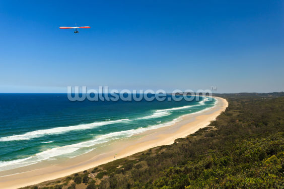 Hang Glider Over Byron Bay Wallpaper Wall Murals