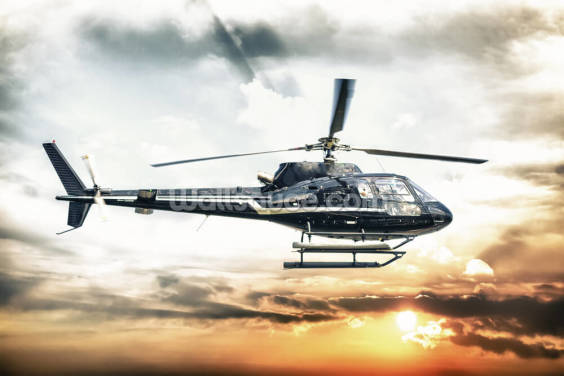 Helicopter Wallpaper Wall Murals