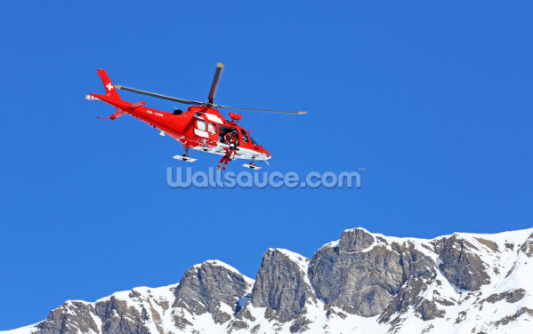 Mountain Rescue Helicopter Wallpaper Wall Murals