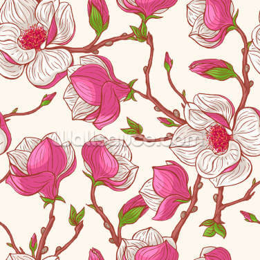 Pink Magnolias Wallpaper Wall Murals