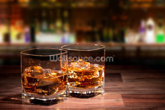 Whiskey Drinks Wallpaper Wall Murals
