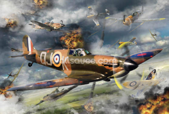 Spitfire Battle Wallpaper Wall Murals